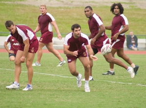 Along with the ball, and some of the players in this photo, my passion for Origin football is missing...