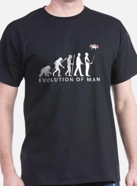 evolution_of_man_controlling_drone_model_tshirt